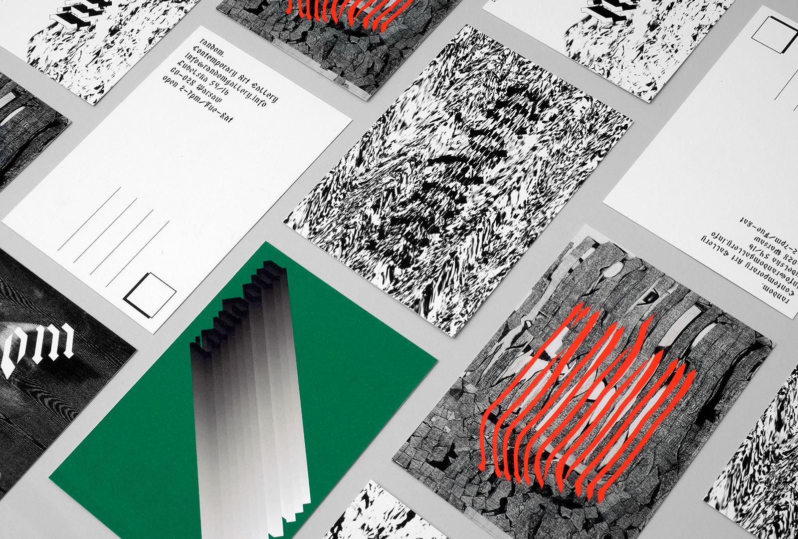 Marcin Romaniuk Random Gallery Branding Identity Postcards